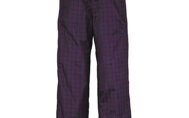 Pant Juniors Slope dark purple plaid, fialová, M
