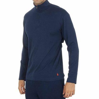 Pánské tmavě modré tričko se stojáčkem Ralph Lauren