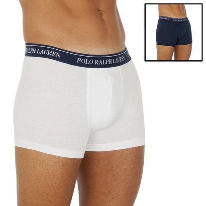 Sada bílých a modrých pánských boxerek Ralph Lauren