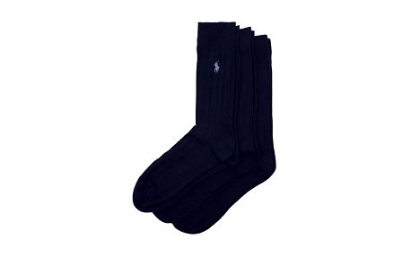 Sada tří párů tmavě modrých pánských ponožek Ralph Lauren