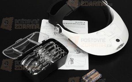 Zvětšovací brýle - 5 vyměnitelných objektivů s různým přiblížením a poštovné ZDARMA! - 27613518