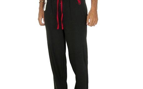 Pánské tmavé pyžamové kalhoty s červenými prvky Ralph Lauren