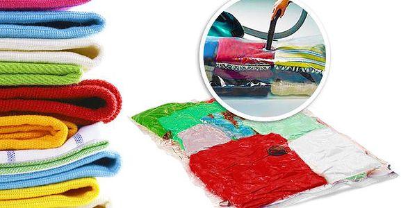 Sada vakuových pytlů pro efektivní uložení prádla s poštovným v ceně