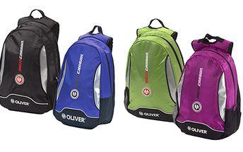 Moderní sportovní batoh OLIVER s kapsou na notebook a rakety.