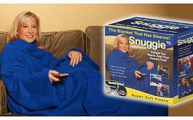 Jedinečná deka snuggie s rukávy je neuvěřitelně pohodlná, hřejivá a měkká!