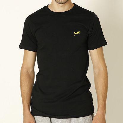 Pánské černé tričko se žlutým logem Chaser