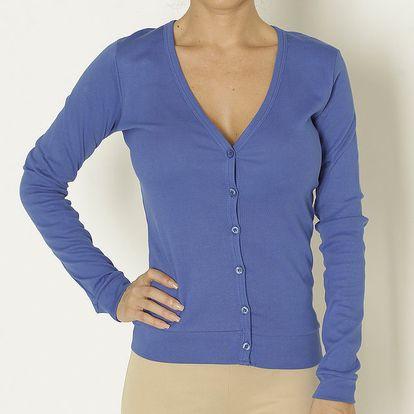 Dámské modré tričko se zapínáním na knoflíky Chaser