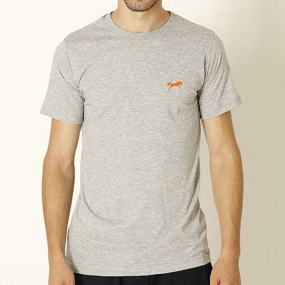 Pánské světle šedé tričko s oranžovým logem Chaser