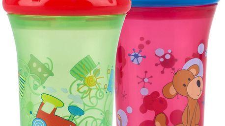 Nuby - No Spill netekoucí kelímek 9m+ 270 ml - červený