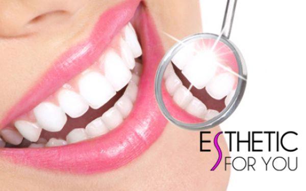 BĚLENÍ ZUBŮ BEZ PEROXIDU za fantasticky nízkou cenu! Profesionální a vyhledávané studio Esthetic For You na Andělu! Šetrné a efektivní bělení zubů pro krásný zářivý úsměv rychle a bez námahy!