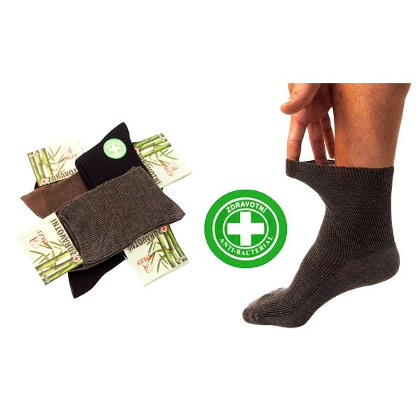 5 párů zdravotních termo ponožek bez gumiček s bambusovým vláknem