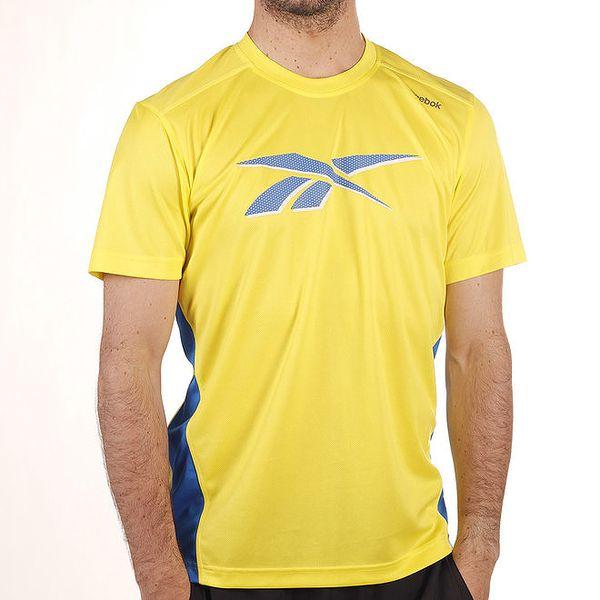 Pánské žluté tričko s modrými prvky Reebok