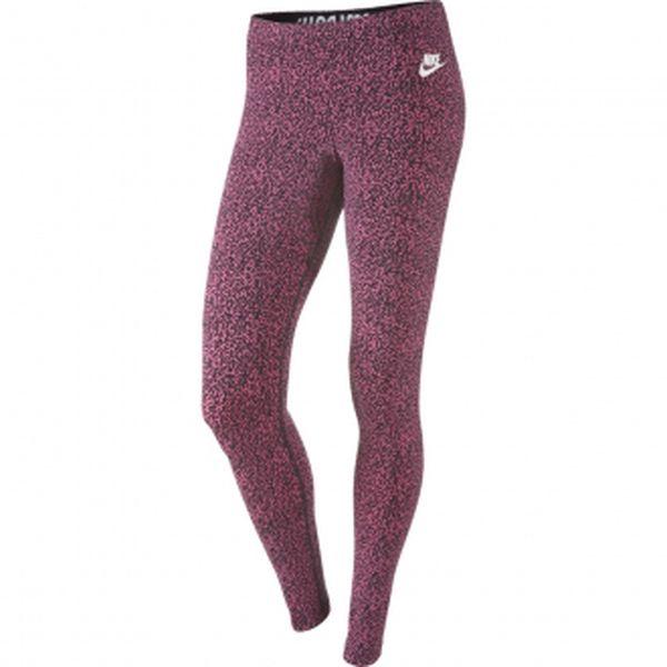 Dámské elastické kalhoty - Nike LEG-A-SEE-AOP růžová