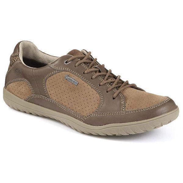 Pánské béžové semišové boty s Gore-Tex úpravou Clarks
