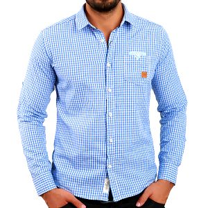 Pánská modře vzorovaná košile Premium Company