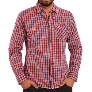 Pánská košile s červenými kostičkami Premium Company
