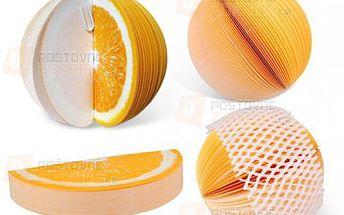 Poznámkový blok ve tvaru pomeranče a poštovné ZDARMA! - 27413486