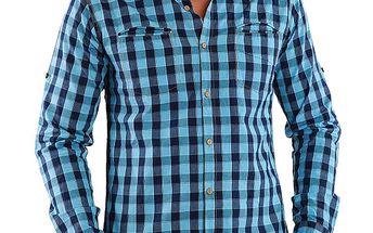 Pánská modře kostkovaná košile Premium Company