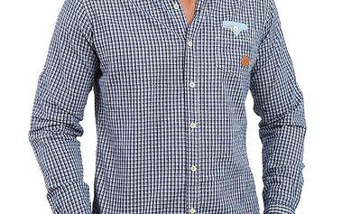 Pánská modrá kostkovaná košile Premium Company