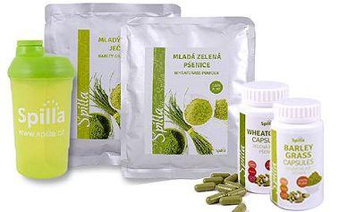 Potravinové doplňky: mladý zelený ječmen nebo pšenice