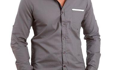 Pánská šedá košile Premium Company