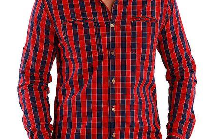 Pánská červeně kostkovaná košile Premium Company
