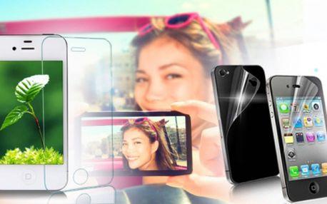Chraňte svůj iPhone před poškrábáním a nečistotami! Pořiďte si ochrannou fólii na display i zadní stranu přístroje s exkluzivní slevou až 89%, tedy jen za 39 Kč! Fólie pro iPhone 3, 3GS, ale také 4, 4S, 5, 5S a 5C!