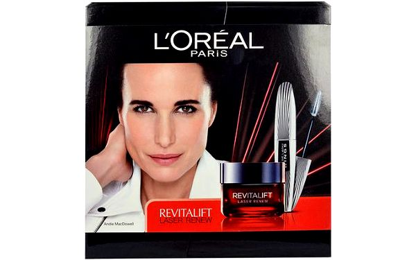 L´Oréal Paris Revitalift Laser Renew dárková sada W - 50 ml Revitalift Laser Renew Day Cream + 7ml False Lash Wings Mascara Black