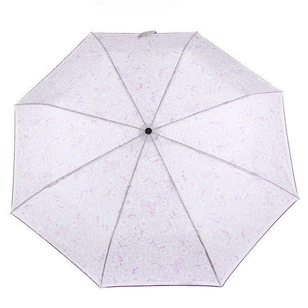 Dámský bílo-fialový deštník s květinovým potiskem Ferré Milano