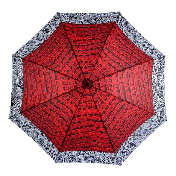 Dámský deštník s červeným potiskem Ferré Milano