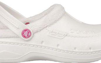 Dámské Coqui sandále s kožíškem - bílé