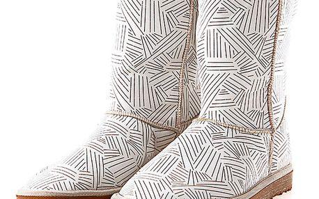 Dámské bílé boty s potiskem notové osnovy Elite Goby