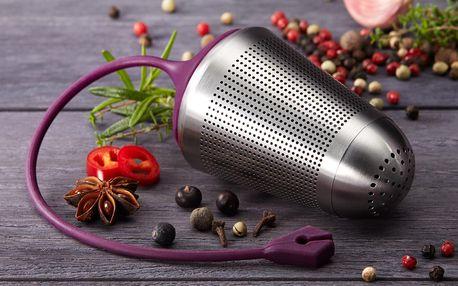 Sítko na koření, pro snadné odstraňování koření a bylinek z pokrmů po ukončení vaření