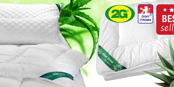 Přikrývky, polštáře, podložky s úpravou Aloe Vera