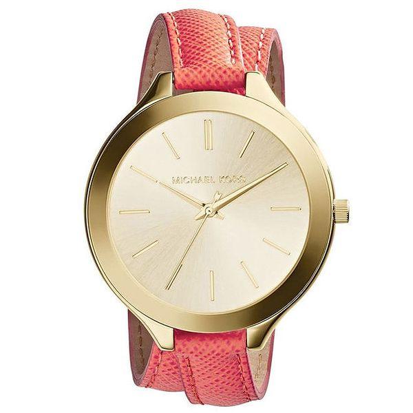 Dámské analogové hodinky s překříženým páskem Michael Kors