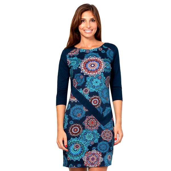 Dámské modré vzorované šaty Janis