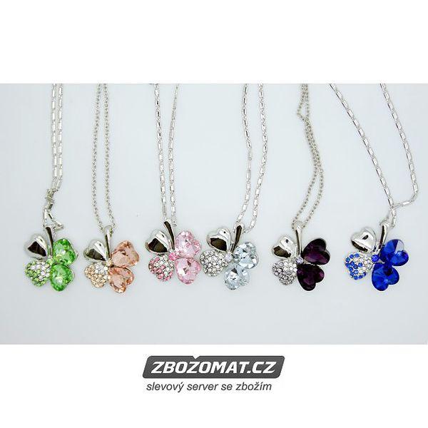 Náhrdelník čtyřlístek Swarovski Elements - ozdobte se šperkem pro štěstí!