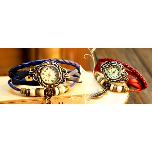 Vintage hodinky s koženým páskem: výběr ze 7 barev!