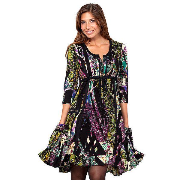 Dámské tmavé vzororvané šaty Janis
