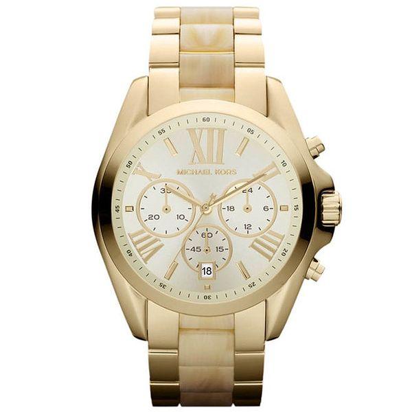 Dámské hodinky zlaté barvy s římskými číslicemi Michael Kors