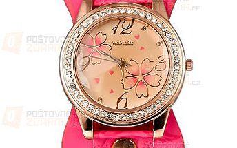 Moderní hodinky s motivem květin a poštovné ZDARMA! - 27913514