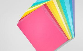 Barevný papír, 100 listů