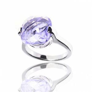 Dámský prsten Bague a Dames s velkým fialovým kamenem