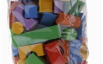 Pěnové kostky jednobarevné 100 ks
