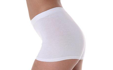 Dámské bílé kalhotky s vyšším pasem Slimtess