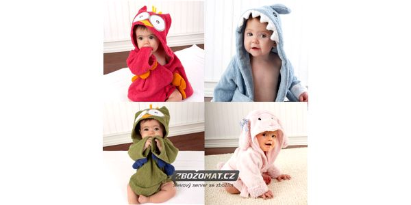 Roztomilý zvířátkový župánek pro děti!