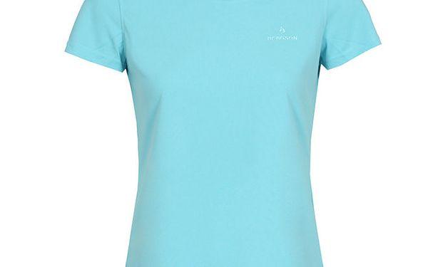 Dámské funkční blankytně modré tričko s krátkým rukávem Bergson
