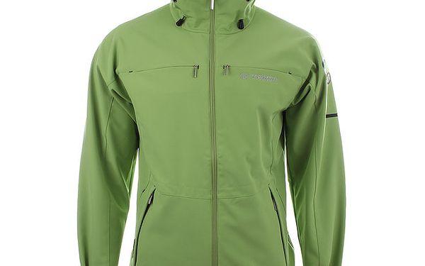 Pánská světle zelená softshellová bunda Trimm