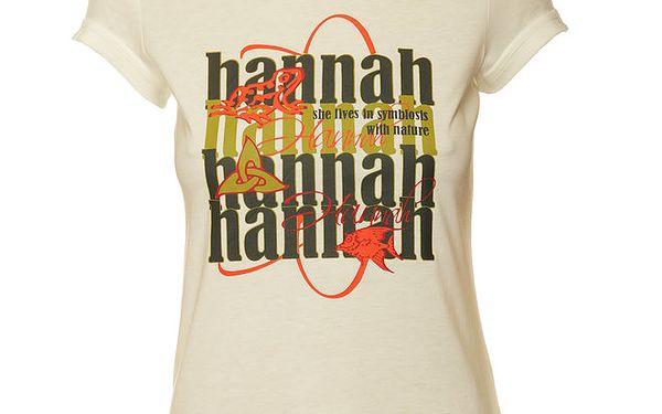 Dámské bílé tričko se zeleným potiskem Hannah
