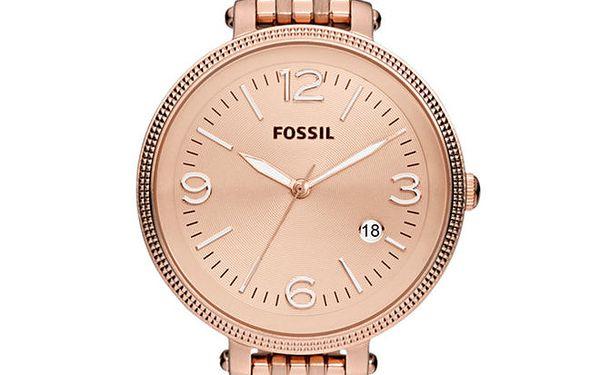 Dámské pozlacené analogové hodinky Fossil